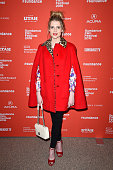 Actress Lucy Boynton attends the 'Sing Street' Premiere during the 2016 Sundance Film Festival at Eccles Center Theatre on January 24 2016 in Park...