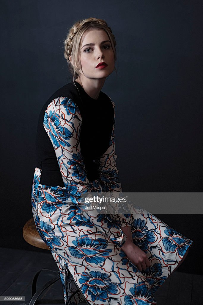 Actress Lucy Boynton of 'Sing Street' poses for a portrait at the 2016 Sundance Film Festival on January 24, 2016 in Park City, Utah.