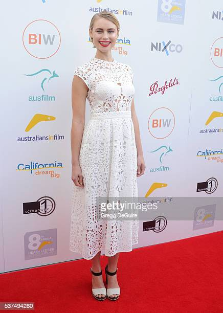 Actress Lucy Fry arrives at Australians In Film Heath Ledger Scholarship Dinner on June 1 2016 in Beverly Hills California