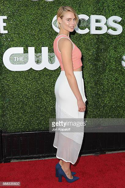 Actress Lucy Fry arrives at CBS CW Showtime Summer TCA Party at Pacific Design Center on August 10 2016 in West Hollywood California