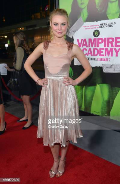 Actress Lucy Fry arrives at The Weinstein Company's premiere of 'Vampire Academy' at Regal 14 at LA Live Downtown on February 4 2014 in Los Angeles...