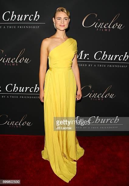 Actress Lucy Fry attends the premiere of Cinelou Releasing's 'Mr Church' on September 6 2016 in Hollywood California
