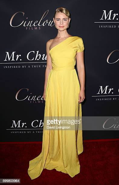 Actress Lucy Fry attends the premiere of Cinelou Releasing's 'Mr Church' at ArcLight Hollywood on September 6 2016 in Hollywood California