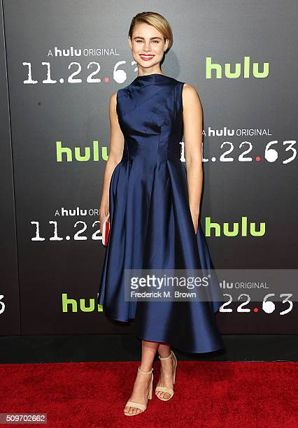 Actress Lucy Fry attends the Premiere of Hulu's '112263' at the Regency Bruin Theatre on February 11 2016 in Los Angeles California