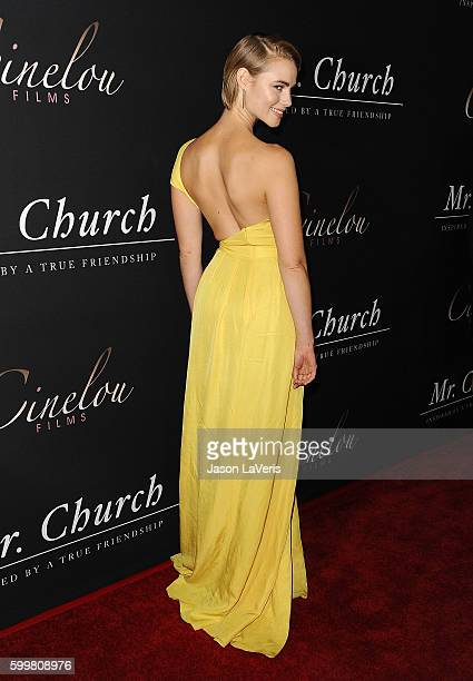 Actress Lucy Fry attends the premiere of 'Mr Church' at ArcLight Hollywood on September 6 2016 in Hollywood California