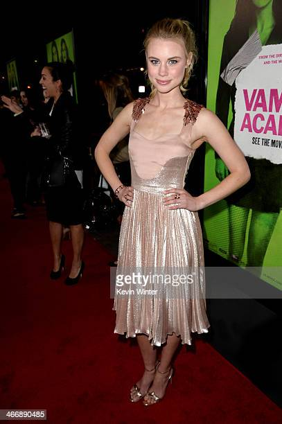 Actress Lucy Fry attends the premiere of The Weinstein Company's 'Vampire Academy' at Regal Cinemas LA Live on February 4 2014 in Los Angeles...