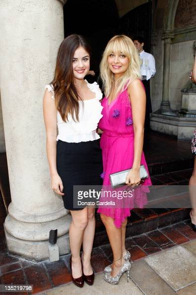 Actress Lucy Hale and Nicole...