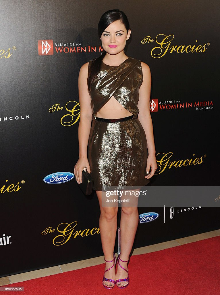 Actress Lucy Hale arrives 38th Annual Gracie Awards Gala at The Beverly Hilton Hotel on May 21, 2013 in Beverly Hills, California.