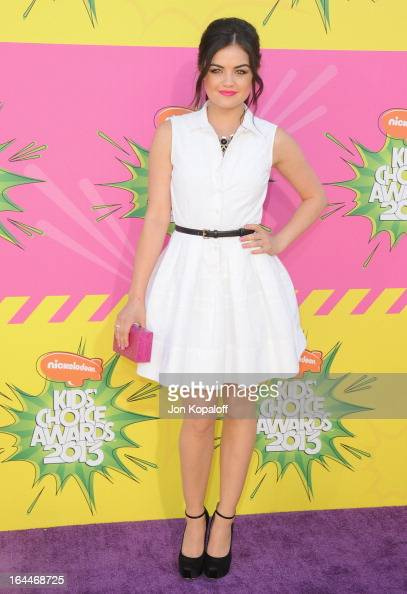 Actress Lucy Hale arrives at Nickelodeon's 26th Annual Kids' Choice Awards at USC Galen Center on March 23 2013 in Los Angeles California