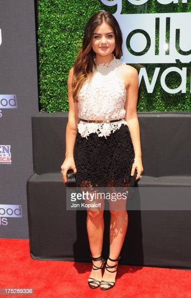Actress Lucy Hale arrives at the 15th Annual Young Hollywood Awards at The Broad Stage on August 1 2013 in Santa Monica California