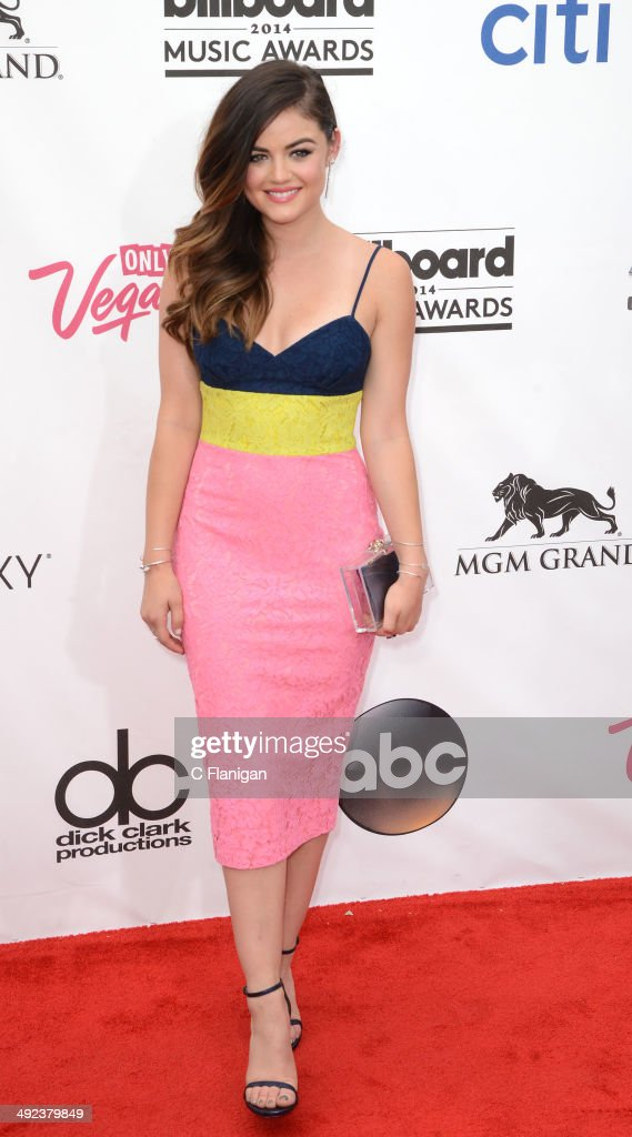 Actress <a gi-track='captionPersonalityLinkClicked' href=/galleries/search?phrase=Lucy+Hale&family=editorial&specificpeople=4430849 ng-click='$event.stopPropagation()'>Lucy Hale</a> arrives at the 2014 Billboard Music Awards at the MGM Grand Garden Arena on May 18, 2014 in Las Vegas, Nevada.