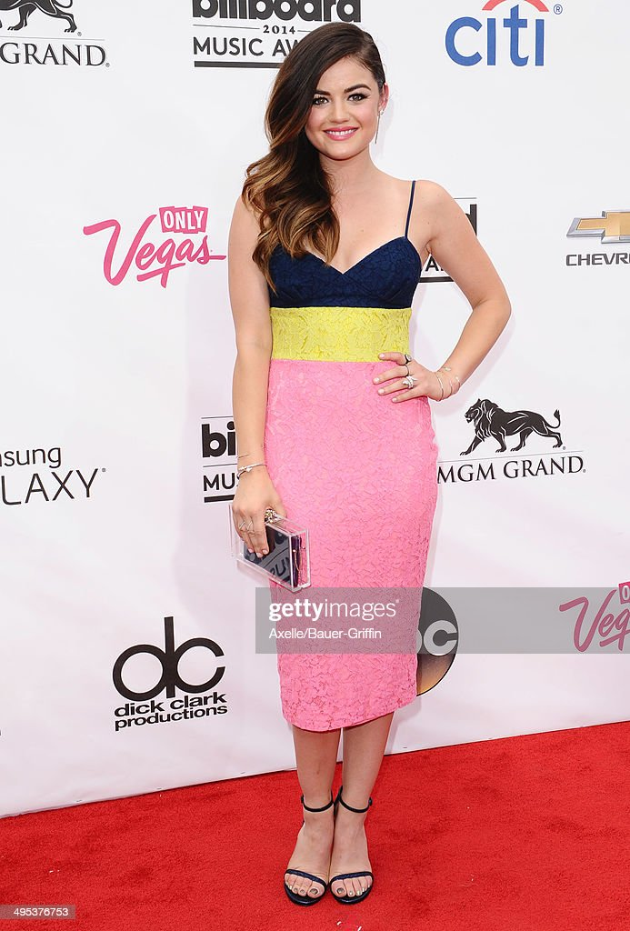 Actress Lucy Hale arrives at the 2014 Billboard Music Awards at the MGM Grand Garden Arena on May 18, 2014 in Las Vegas, Nevada.