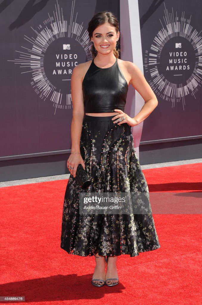 Actress Lucy Hale arrives at the 2014 MTV Video Music Awards at The Forum on August 24 2014 in Inglewood California