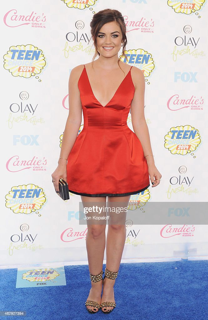 Actress Lucy Hale arrives at the 2014 Teen Choice Awards at The Shrine Auditorium on August 10 2014 in Los Angeles California