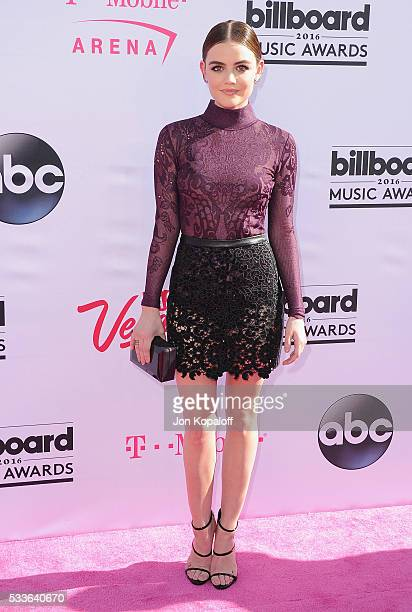Actress Lucy Hale arrives at the 2016 Billboard Music Awards at TMobile Arena on May 22 2016 in Las Vegas Nevada