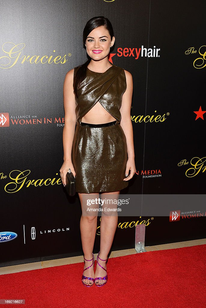 Actress Lucy Hale arrives at the 38th Annual Gracie Awards Gala at The Beverly Hilton Hotel on May 21, 2013 in Beverly Hills, California.