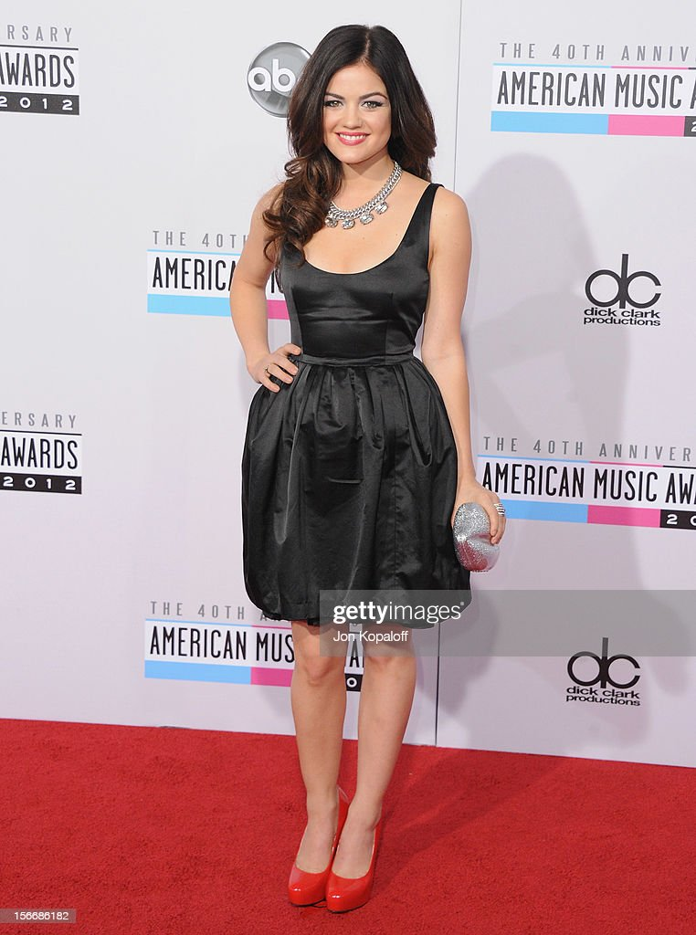 Actress Lucy Hale arrives at The 40th American Music Awards at Nokia Theatre L.A. Live on November 18, 2012 in Los Angeles, California.