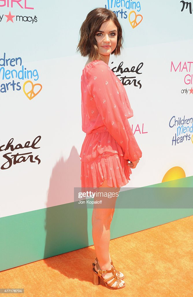 Actress Lucy Hale arrives at the Children Mending Heart's 7th Annual Empathy Rocks Fundraiser on June 14 2015 in Malibu California