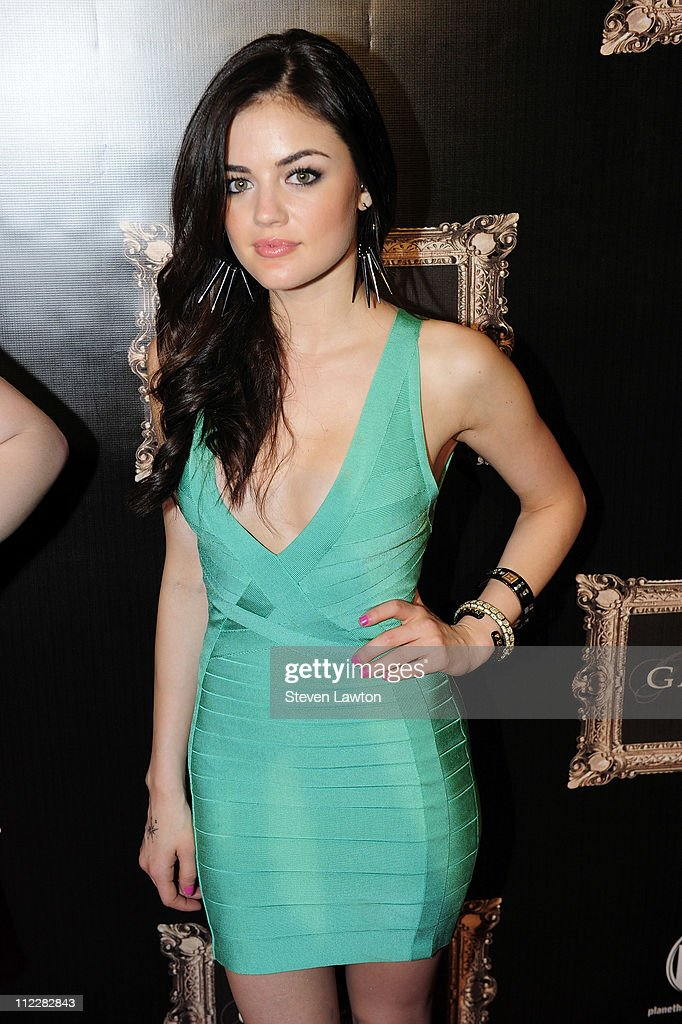 Actress Lucy Hale arrives for the grand opening of Gallery Nightclub at Planet Hollywood on April 16 2011 in Las Vegas Nevada