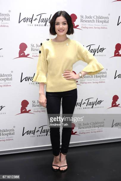 Actress Lucy Hale attends Charity Days Let's Do Something Good Together with St Jude Children's Research Hospital hosted by Lord Taylor at Lord...