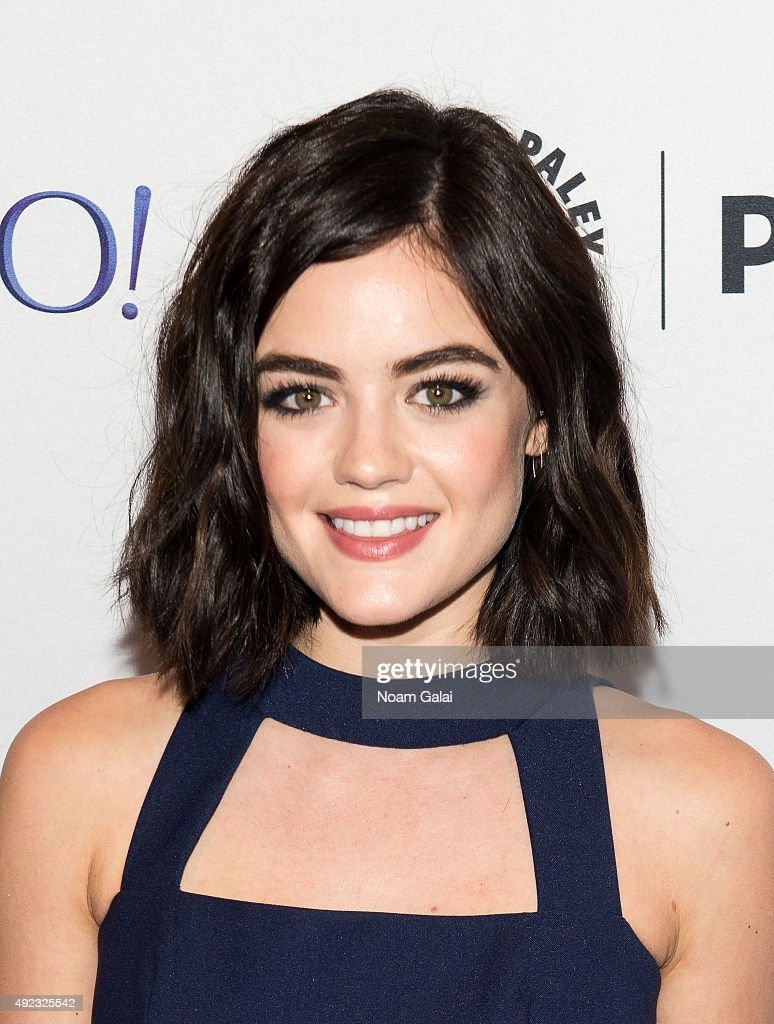 Actress <a gi-track='captionPersonalityLinkClicked' href=/galleries/search?phrase=Lucy+Hale&family=editorial&specificpeople=4430849 ng-click='$event.stopPropagation()'>Lucy Hale</a> attends 'Pretty Little Liars' Q&A during the PaleyFest New York 2015 at The Paley Center for Media on October 11, 2015 in New York City.