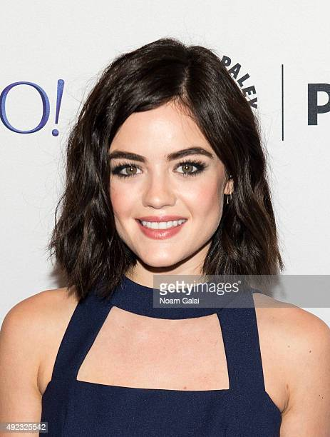 Actress Lucy Hale attends 'Pretty Little Liars' QA during the PaleyFest New York 2015 at The Paley Center for Media on October 11 2015 in New York...