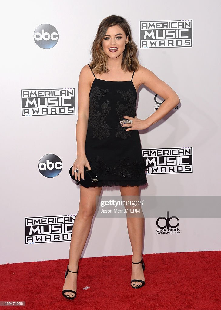 Actress Lucy Hale attends the 2014 American Music Awards at Nokia Theatre LA Live on November 23 2014 in Los Angeles California