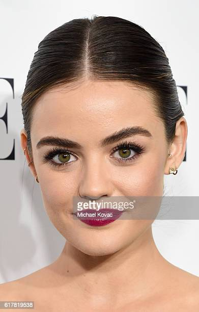 Actress Lucy Hale attends the 23rd Annual ELLE Women In Hollywood Awards at Four Seasons Hotel Los Angeles at Beverly Hills on October 24 2016 in Los...