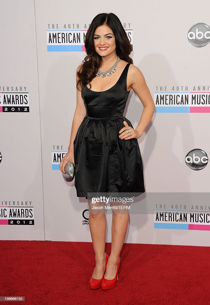Actress Lucy Hale attends the 40th American Music Awards held at Nokia Theatre L.A. Live on November 18, 2012 in Los Angeles, California.