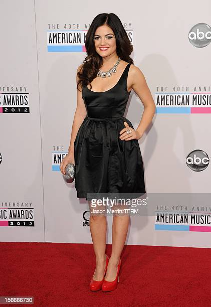 Actress Lucy Hale attends the 40th American Music Awards held at Nokia Theatre LA Live on November 18 2012 in Los Angeles California
