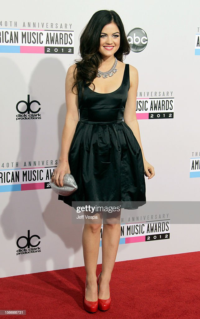 Actress Lucy Hale attends the 40th Anniversary American Music Awards held at Nokia Theatre L.A. Live on November 18, 2012 in Los Angeles, California.