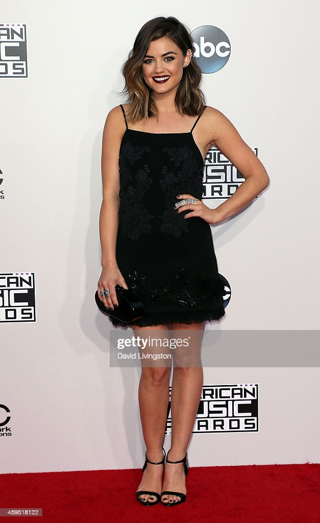 Actress <a gi-track='captionPersonalityLinkClicked' href=/galleries/search?phrase=Lucy+Hale&family=editorial&specificpeople=4430849 ng-click='$event.stopPropagation()'>Lucy Hale</a> attends the 42nd Annual American Music Awards at the Nokia Theatre L.A. Live on November 23, 2014 in Los Angeles, California.