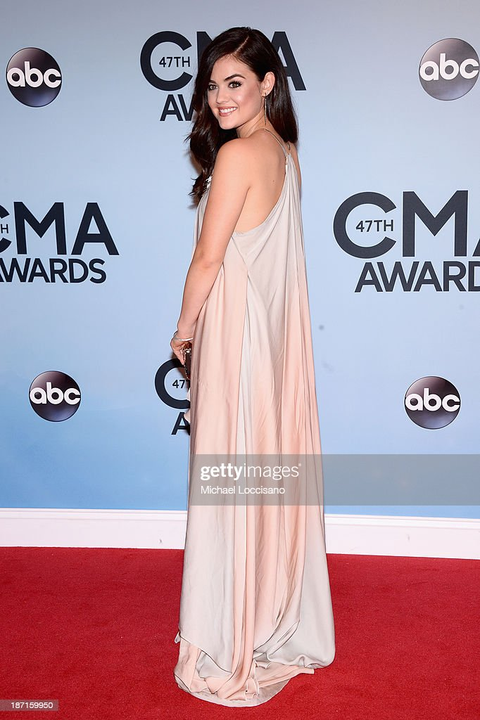 Actress Lucy Hale attends the 47th annual CMA Awards at the Bridgestone Arena on November 6, 2013 in Nashville, Tennessee.