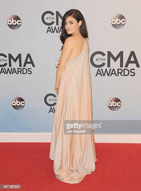Actress Lucy Hale attends the 47th annual CMA Awards at the Bridgestone Arena on November 6 2013 in Nashville Tennessee