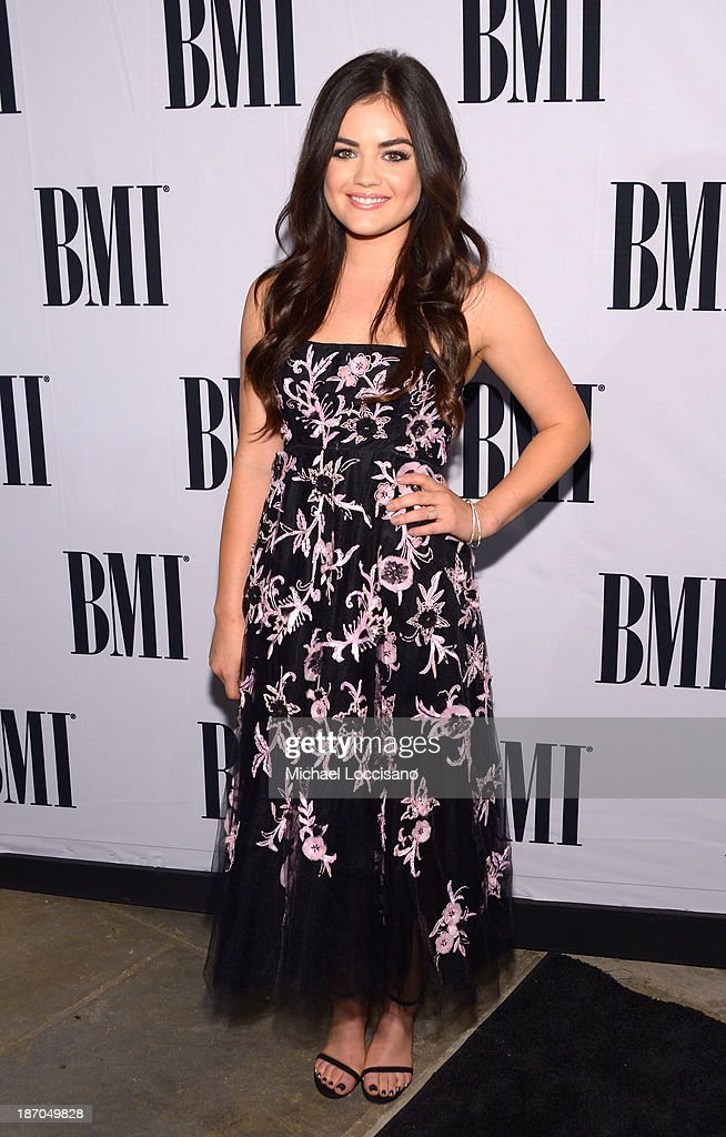 Actress <a gi-track='captionPersonalityLinkClicked' href=/galleries/search?phrase=Lucy+Hale&family=editorial&specificpeople=4430849 ng-click='$event.stopPropagation()'>Lucy Hale</a> attends the 61st annual BMI Country awards on November 5, 2013 in Nashville, Tennessee.