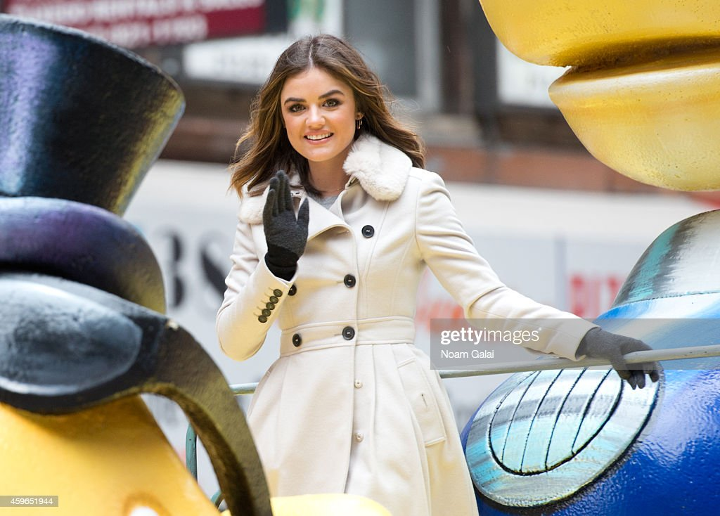 Actress Lucy Hale attends the 88th Annual Macys Thanksgiving Day Parade at on November 27 2014 in New York New York