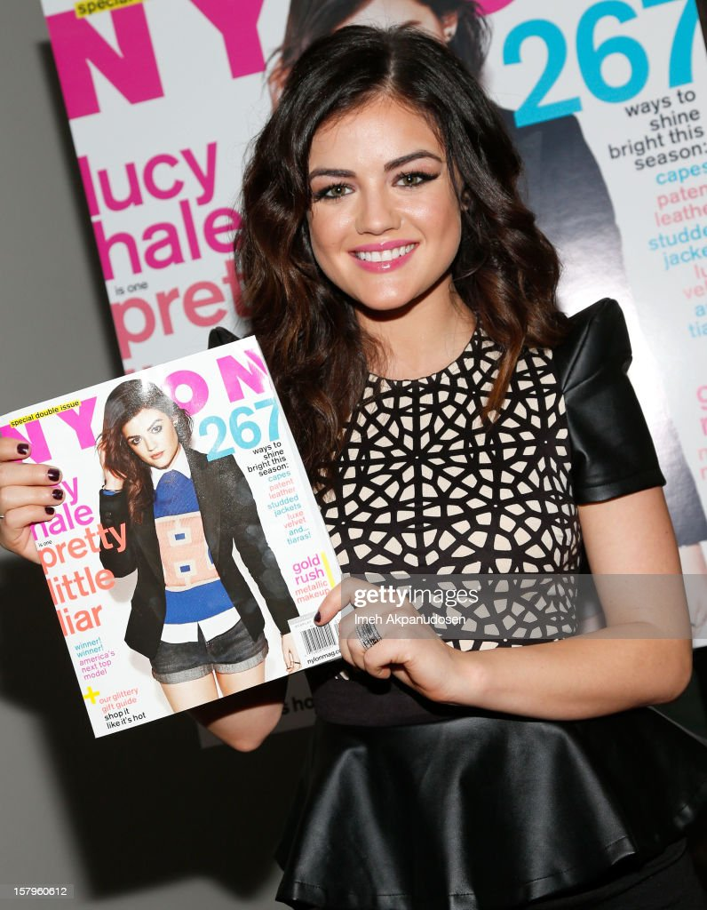 Actress Lucy Hale attends the Celebration of NYLON's December/January Cover Star Lucy Hale Presented by bebe at Andaz Hotel on December 7, 2012 in Los Angeles, California.