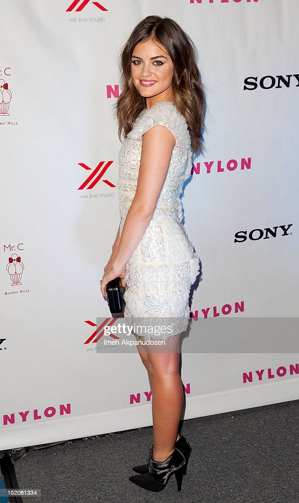 Actress Lucy Hale attends the NYLON And Sony X Headphones September TV Issue Party at Mr. C Beverly Hills on September 15, 2012 in Beverly Hills, California.