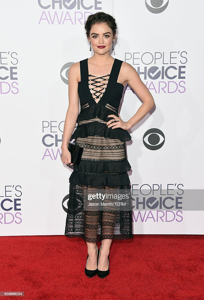 Actress <a gi-track='captionPersonalityLinkClicked' href=/galleries/search?phrase=Lucy+Hale&family=editorial&specificpeople=4430849 ng-click='$event.stopPropagation()'>Lucy Hale</a> attends the People's Choice Awards 2016 at Microsoft Theater on January 6, 2016 in Los Angeles, California.