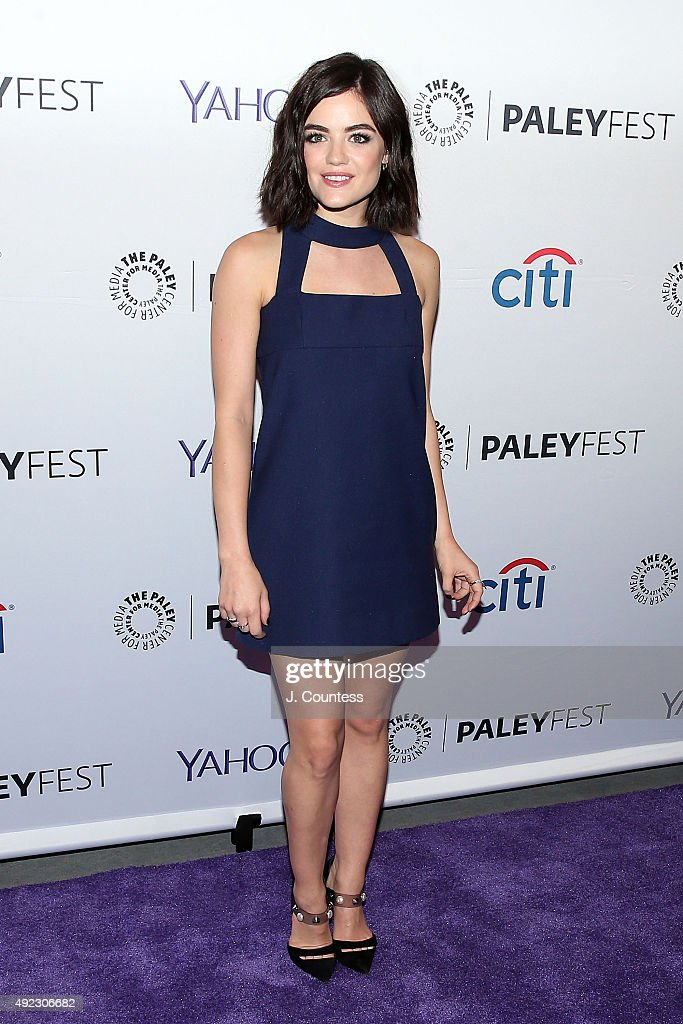 Actress Lucy Hale attends the 'Pretty Little Liars' panal discussion during the PaleyFest New York 2015 at The Paley Center for Media on October 11...