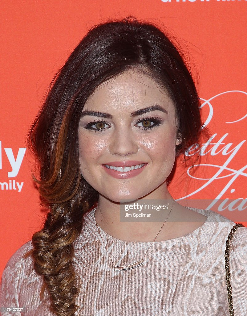 Actress <a gi-track='captionPersonalityLinkClicked' href=/galleries/search?phrase=Lucy+Hale&family=editorial&specificpeople=4430849 ng-click='$event.stopPropagation()'>Lucy Hale</a> attends the 'Pretty Little Liars' season finale screening at Ziegfeld Theater on March 18, 2014 in New York City.