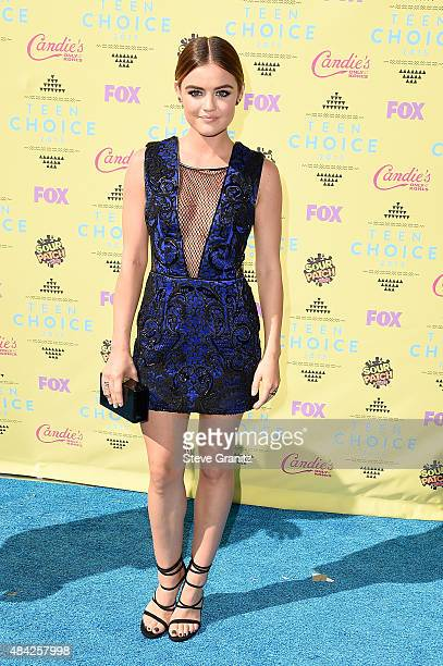 Actress Lucy Hale attends the Teen Choice Awards 2015 at the USC Galen Center on August 16 2015 in Los Angeles California