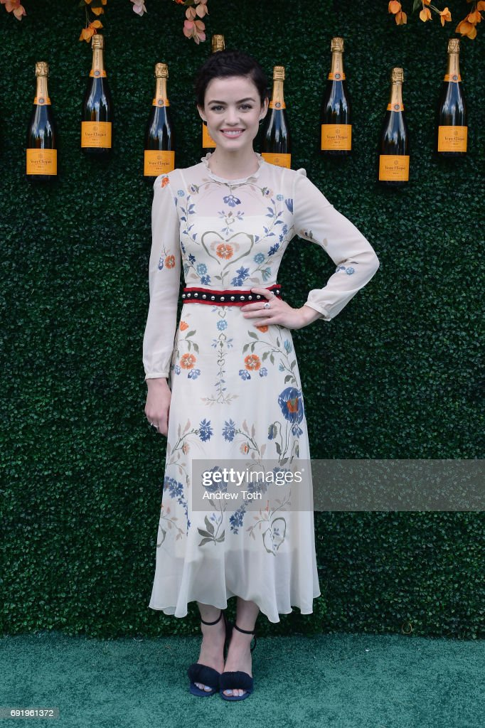 Actress Lucy Hale attends The Tenth Annual Veuve Clicquot Polo Classic at Liberty State Park on June 3, 2017 in Jersey City, New Jersey.