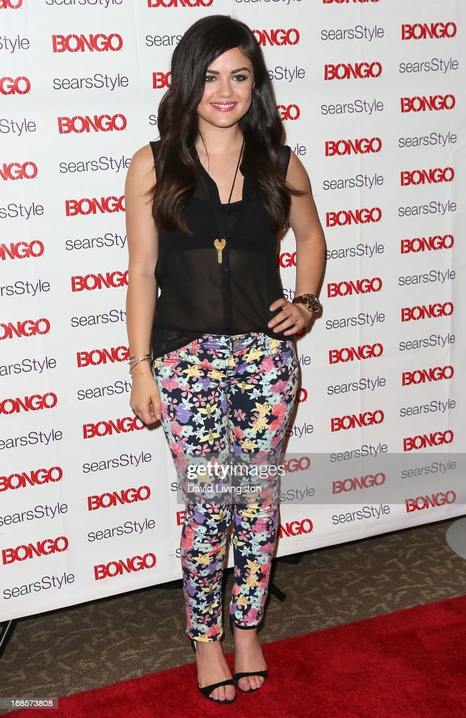 Actress Lucy Hale celebrates Bongo's Summer 2013 Junior Brand Collection at Sears on May 11, 2013 in North Hollywood, California.