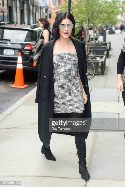Actress Lucy Hale enters the 'AOL Build' taping at the AOL Studios on April 20 2017 in New York City