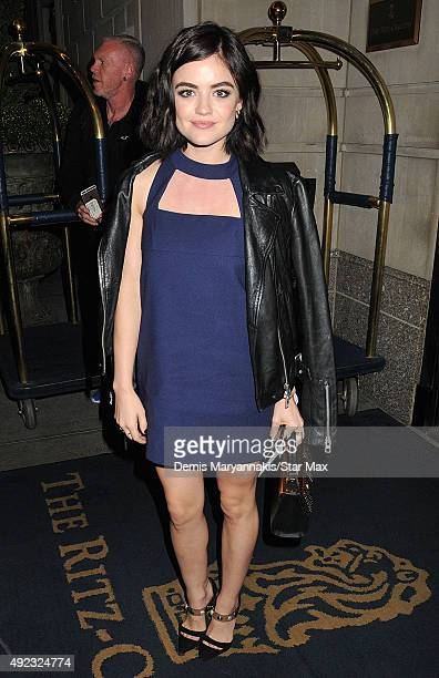 Actress Lucy Hale is seen on October 11 2015 in New York City