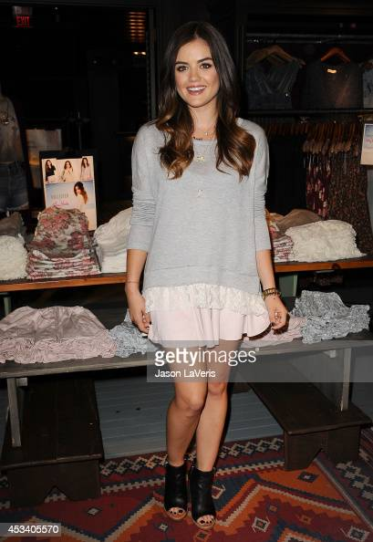 Actress Lucy Hale launches her first collection at Hollister on August 9 2014 in Los Angeles California