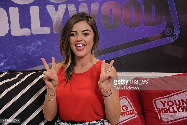 Actress Lucy Hale visits the Young Hollywood Studio on October 27 2014 in Los Angeles California