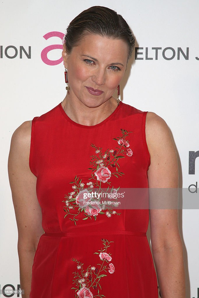 Actress Lucy Lawless arrives at the 21st Annual Elton John AIDS Foundation's Oscar Viewing Party on February 24, 2013 in Los Angeles, California.