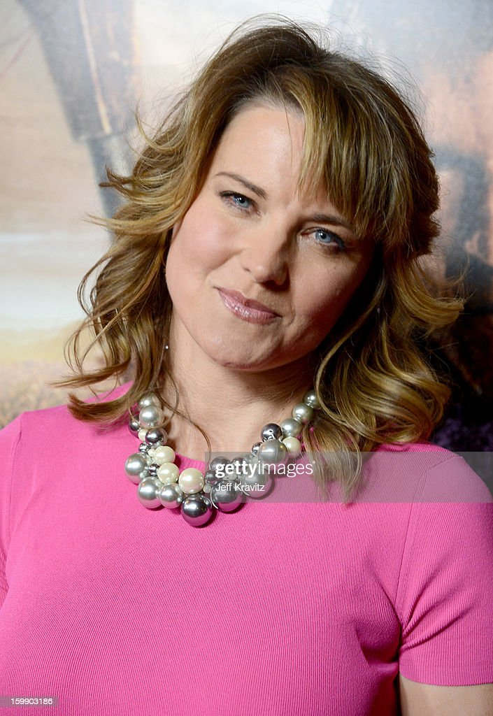 Actress Lucy Lawless attends the 'Spartacus: War Of The Damned' premiere at Regal Cinemas L.A. LIVE Stadium 14 on January 22, 2013 in Los Angeles, California.